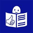 Europäisches Logo für einfaches Lesen